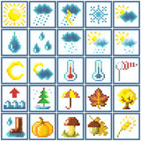 Set of pixel icons Stock Photo