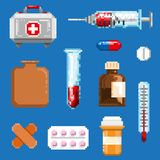 A set of pixel objects associated with medicine stock photos
