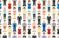 Set of pixel people Royalty Free Stock Photography