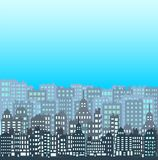 Set of pixel small building stock illustration