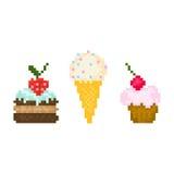 Set pixel sweets Stock Photography
