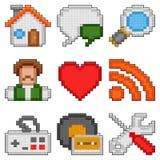 Pixel web icons. Stock Image