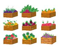Set of pixelated harvest icons. Collection vector illustration graphic design Vector Illustration
