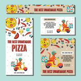 Set of Pizza flyer. Stock Images
