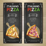 Set of pizza menu banners Stock Photography