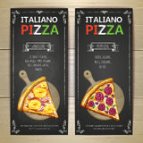 Set of pizza menu banners Stock Photo