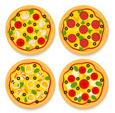 Set of pizzas Royalty Free Stock Photography