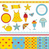 Set denni scrapbook elementy Obraz Royalty Free