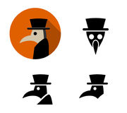 Set of Plague doctor icons, vector Royalty Free Stock Photography