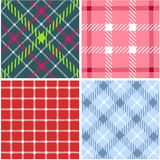 Set of plaid patterns Royalty Free Stock Image