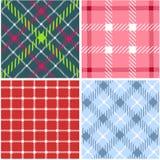 Set of plaid patterns Royalty Free Stock Image