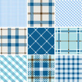 Set of plaid patterns Stock Photos