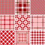 Set of plaid patterns Stock Images