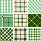 Set of plaid patterns Stock Photography