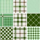 Set of plaid patterns Stock Photography