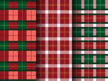 Set of plaid patterns, tartan,seamless,Vector illustrations Stock Image
