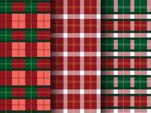 Set of plaid patterns, tartan,seamless,Vector illustrations. Set of plaid patterns, tartan,seamless Stock Image