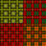 Set plaid patterns, tartan, vector Royalty Free Stock Image