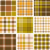 Set of plaid seamless pattern Stock Images