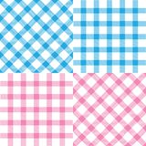 Set of plaid seamless patterns royalty free stock photography