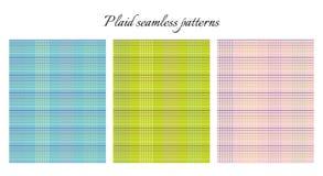 Set of plaid seamless patterns. Royalty Free Stock Photo