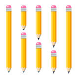 Set of plain encils Royalty Free Stock Photography