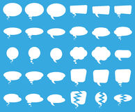 Set Of Plain Speech Bubbles Stock Photos