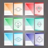 Set plakat, ulotka, broszurka projekta szablon Zdjęcia Stock