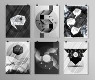 Set plakat, ulotka, broszurka projekta szablony Obrazy Stock