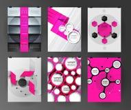 Set plakat, ulotka, broszurka projekta szablony Zdjęcie Stock