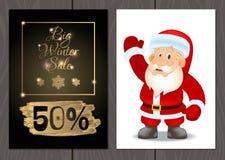 Set plakaty lub ulotki dla bożych narodzeń, nowy rok promocje i sprzedaże i Fotografia Stock