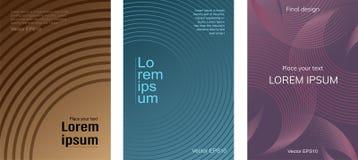 Set plakaty z gradientowymi okręgami ilustracja wektor