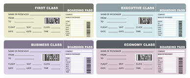 Set Plane tickets Royalty Free Stock Photo