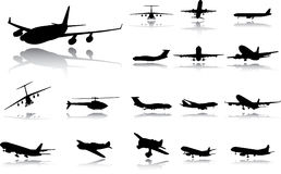 Set the plane. A vector. Royalty Free Stock Images