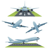 Set of planes in different views Royalty Free Stock Photography