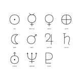 Set planetarni symbole Fotografia Stock