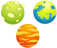 Set of planets stock illustration