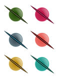Set of planets Royalty Free Stock Images