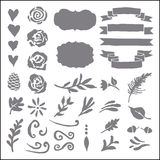 Set of plant elements for design. Stock Photos
