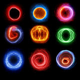 Set of plasma balls Stock Image