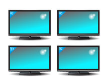 Set of Plasma TV Royalty Free Stock Photos