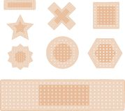 Set of plasters isolated on white Royalty Free Stock Images
