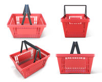 Set of plastic baskets Royalty Free Stock Images