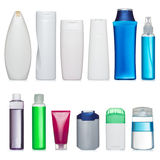 Set of plastic bottles Stock Images