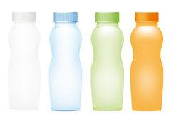 Set of plastic bottles Royalty Free Stock Images