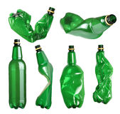 Set of plastic bottles Stock Photos
