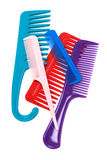 Set of plastic comb Stock Images