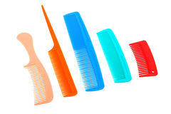 Set of plastic comb Royalty Free Stock Photos