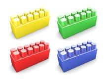 Set of plastic construction element Stock Images