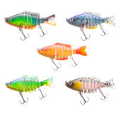 Set of plastic fish bait Stock Photos